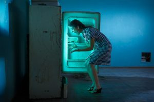 Head in a freezer © Marcelo Isarrualde