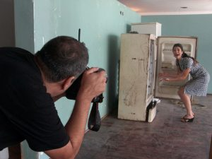 Making of Head in a freezer © Marcelo Isarrualde