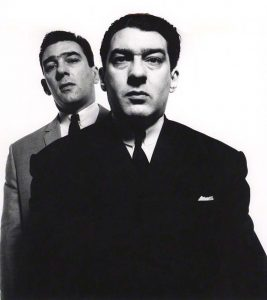 NPG x126466; Reggie Kray; Ronnie Kray by David Bailey